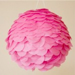 Pink papermache pinata